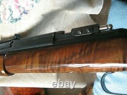 1974 SHERIDAN BLUE STREAK. 20 caliber Pellet Rifle with AMAZING WOOD-TIGER STRIPED