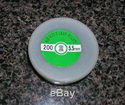 200 PACK OF 5.5mm /. 22 CALIBER LEAD PELLETS FOR AIR RIFLES PISTOL GUN CAL BB
