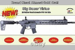 22 Cal Sig MCX Virtus, 30 Rd, PCP RIFLE, SemiAuto, Warranty