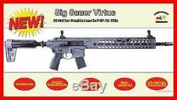22 Cal Sig MCX Virtus withAR15 Rail, 30 Rd, PCP RIFLE, SemiAuto, Warranty
