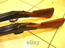 2 Vintage Daisy Model 21 BB Air Gun Double Barrel Rifle Pump Up Shotgun Pellet