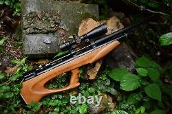 AEA Challenger Bullpup Air Rifle 25Cal In Stock With Scope Installed