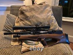Air arms Galahad H P walnut pellet rifle. 22