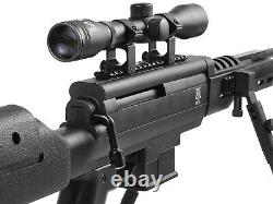 Black Ops Tactical Sniper Combo. 22 Caliber Gas-Piston 4x32 Scope Air Rifle