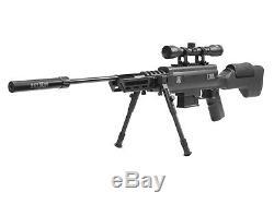 Black Ops Tactical Sniper Gas-Piston Air Rifle 0.22 cal 4x32 Scope Bipod Adju