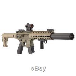 CO2 Air Rifle BB Gun. 177 CAL Pellet Semi Auto Best Rated Red Dot Sight 30RD SIG