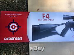 Crosman F4 Quiet Fire. 177 cal Pellet 1200 FPS Air Rifle Break Barrel With Scope