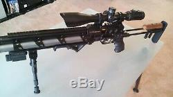 Evanix Sniper PCP air rifle. 45 cal with accessories inc. 4500psi tank