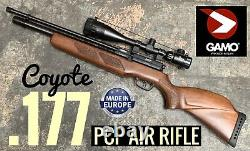 GAMO PCP AIR RIFLE. 177 2 Stage Trigger with V-LIFE 6-24x50 AOEG Optic