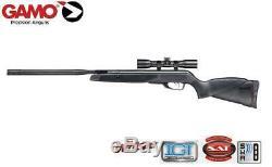 Gamo Raptor Whisper. 177 Caliber Predator Varmint Hunting Air Rifle with Scope