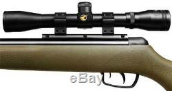 Gamo Rocket. 177 Caliber 1250 fps Round Green Air Rifle with4x32mm Scope (Refurb)