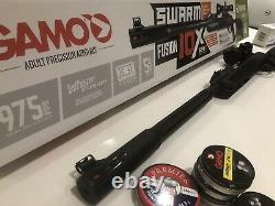 Gamo Swarm Fusion 10X GEN2.22 CAL Air Rifle with upgraded UTG Bugbuster Scope