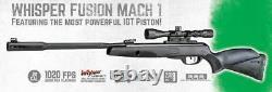 Gamo USA Whisper Fusion Mach 1.22 caliber pellet Break Barrel Air Rifle & Scope