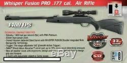Gamo Whisper Fusion Pro 1400 FPS. 177 Caliber Break Barrel Air Rifle