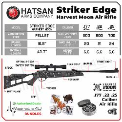 Hatsan Edge Spring Harvest Moon Combo. 25 Caliber Air Rifle with Pellets Bundle