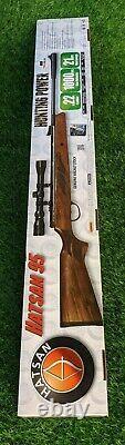 Hatsan MOD 95 Air Rifle, Wood, 1000FPS. 22cal with Optima 3-9x32mm Scope HC9522