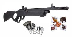 Hatsan Vectis. 22 Cal Air Rifle with Pack of Pellets and Paper Targets Bundle