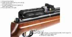 New Hatsan AT44-W10 Long QE PCP Air Rifle, Walnut Stock Various Calibers
