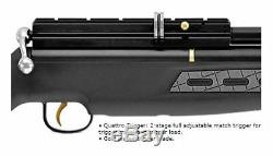 New Hatsan BT65SB QE. 22 Caliber Side Bolt Air Rifle, Black HGBT65SB22-QE