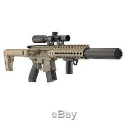 SIG Sauer MCX. 177 Cal Air Rifle with Scope CO2 90 G 2-Pack 500 Lead Pellet Bundle