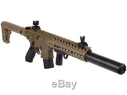 Sig Sauer MCX. 177 Cal CO2 Powered Pellet Rifle with Sights, Flat Dark Earth