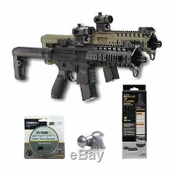 Sig Sauer MPX. 177 Cal CO2 Powered Air Rifle Red Dot with CO2 and Pellets Bundle