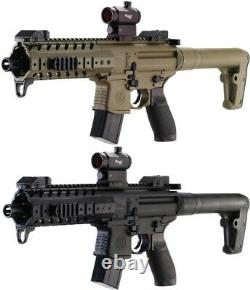 Sig Sauer MPX. 177 Cal CO2 Powered SIG20R Red Dot Air Rifle, 30 Rounds