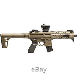Sig Sauer MPX ASP Red Dor Air Rifle with 30-Round Pellet Magazine, MPXAIRMRDFDE
