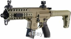 Sig Sauer MPX FDE. 177 Cal Air Rifle with CO2 Tanks and Lead Pellets Bundle