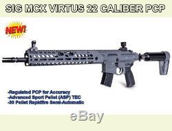 22 Cal Sig MCX Virtus Withar15 Rail, 30 Rd, Pcp Fusil, Semi-automatique, Garantie