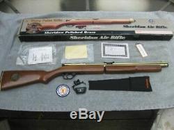 50e Anniversaire Sheridan Gold Trace Carabine 5 MM C9a. 20 Cal. Rare Laiton Poli