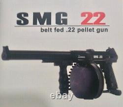 Air Ordnance Smg 22 Co2 Belt Fed Automatic. 22 Mitraillette Air Gun