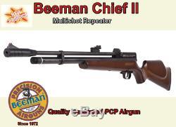 Beeman 1328 Chef Ii. 22 Cal 830 Fps Multishot Répéteur Pcp Carabine À Air Comprimé