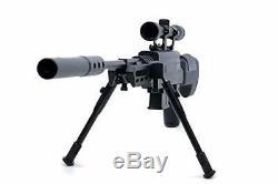 Black Ops Sniper Rifle S Chasse Pellet. 177 Carabine À Air Comprimé Avec Suppresseur Pro