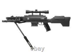 Black Ops Tactical Sniper Air Rifle. 22 Combo 4x32 Bipode Réglable De Montage De Champ D'application