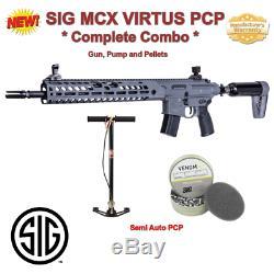 Cal 22 Sig MCX Virtus Combo, 30 Rd, Pcp Rifle, Semi-automatique, Garantie