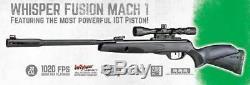 Carabine À Air Comprimé Gamo Whisper Fusion Mach 1.22 Cal 1020 Fps Avec Lunette De Visée 3 À 9 X 40 (refurb)