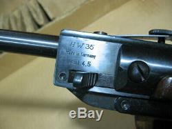 Carabine À Air Comprimé Siège Weihrauch Hw35l Delux Carabine À Air Comprimé Dans La Boîte Originale. 177