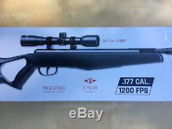 Crosman F4 Calme Feu. 177 Cal Pellet 1200 Fps Carabine À Air Comprimé Pause Canon Avec Scope