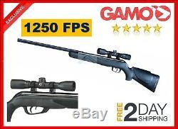 Gamo Big Cat 1250 Fps Fusil De Chasse Puissant Varmint Pest Pistolet À Air Comprimé De 177 Cal