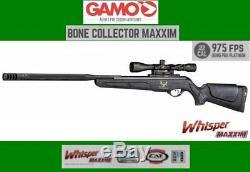 Gamo Bone Collector Maxxim. 22 Cal Pause Canon Carabine À Air Comprimé Avec 3x9x40 Scope