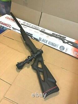 Gamo Chevalier Noir. 177 Cal 1250 Fps Avec 4x32mm Scope Air Rifle Nouveau