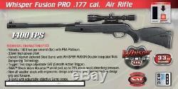Gamo Chuchotement Fusion Pro. 177 Cal 1400 Images Par Seconde Avec 3-9x40ao Scope Carabine À Air Comprimé (refurb)