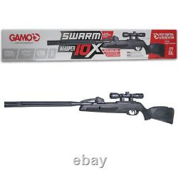 Gamo Swarm Whisper 10-shot Break Barrel Air Rifle. 177 Cal. Avec Portée 4x32