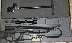 Hatsan Gladius Bullpup Pcp. 25 Chasse Carabine À Air Comprimé Avec Une Portée Et Une Pompe Manuelle