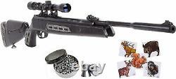 Hatsan Mod 125 Sniper Vortex Qe. 22 Cal Black Syn Stock Air Rifle Avec Bundle