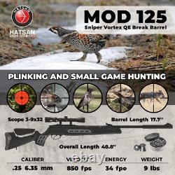 Hatsan Mod 125 Sniper Vortex Qe Énergie Tranquille. 25 Calibre Air Rifle