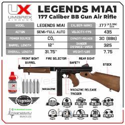 Légendes D'umarex M1a1.177 Rifle D'air Arrière Avec Réservoir De Co2 Et Groupe De Bb