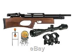 Perforateur Disjoncteur Silencieux Noyer Sidelever Pcp Carabine À Air Comprimé Kit 0,22 Cal En Bois Stock