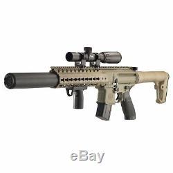 Sig Sauer Mcx. 177 Cal Co2 (30 Tours) 14x 24mm Portée Carabine À Air Comprimé, Plat Dark Earth